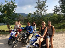 Moped gang riding from Chaing Mai to Pai, Thailand